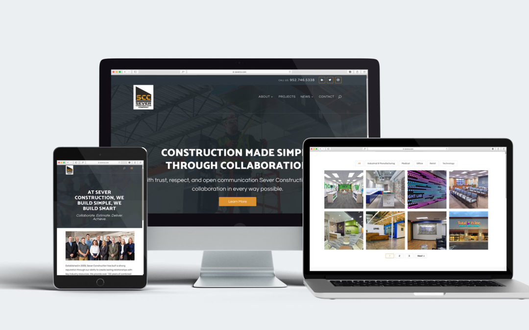 Sever Construction Launches New Website