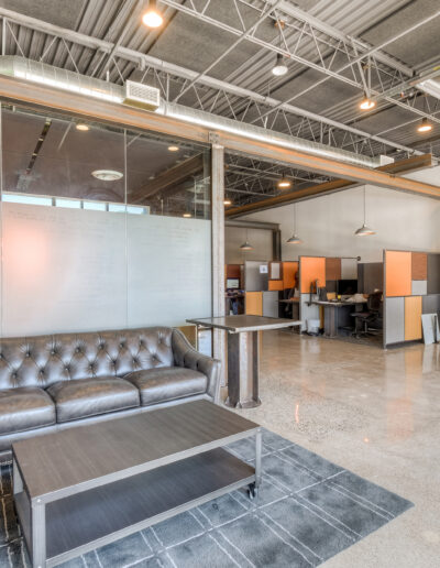 Bionic Giant lobby and team offices at Edina Commerce Center