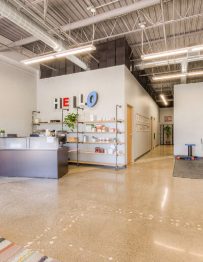 Dauntless + Integrated Chiropractic Rehab Clinic lobby at Edina Commerce Center