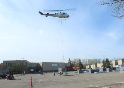 Thermotech RTU Replacement by Helicopter in Hopkins, Minnesota