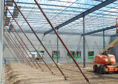 Bar Joists Installation at New Production Facility