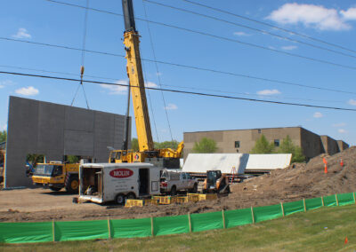 Precast Panel Installation at New Production Facility Project Site